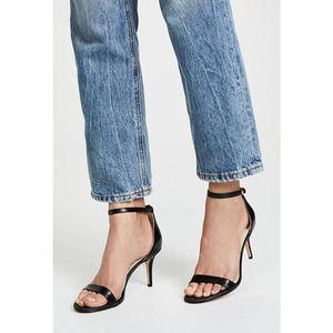 NEW Sam Edelman Patti Black Leather Heel Sandal 12